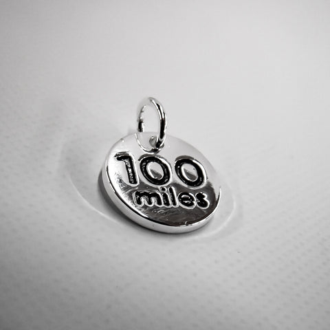 100 Mile Silver Plated Disc Charm