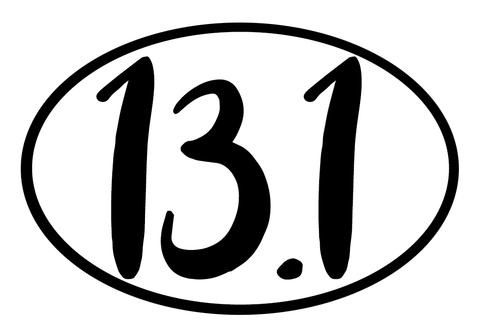 13.1 Oval Decal (L) - 11 Colors Available