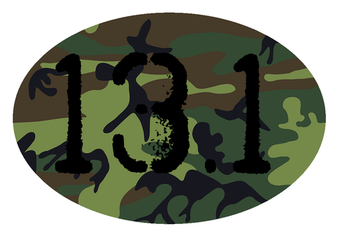 13.1 Oval Decal - Camo