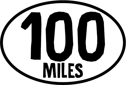 100 Miles Oval Magnet (FT)