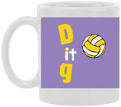 Dig It Purple Ceramic Mug