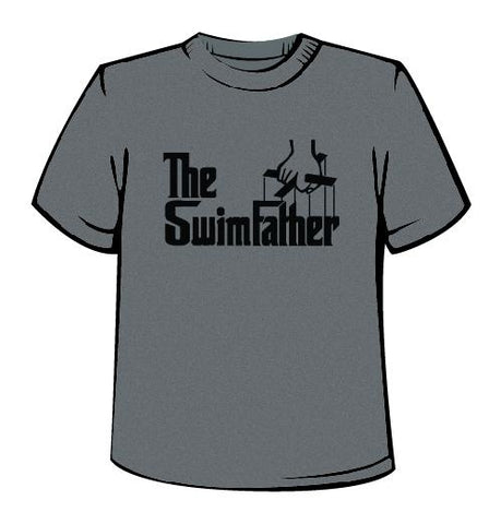 The Swim Father - Men's Crew Tech Shirt - Heather Grey