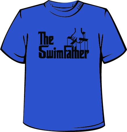 The Swim Father - Men's Crew Tech Shirt - Heather Royal