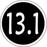 13.1 Colored Round Decal - Black