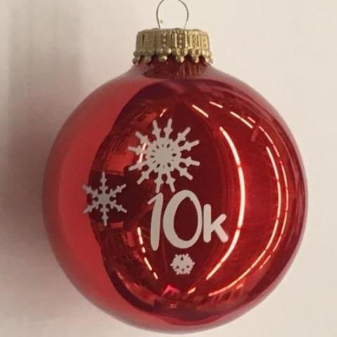 Christmas Ornament 10K Snowflakes - Red