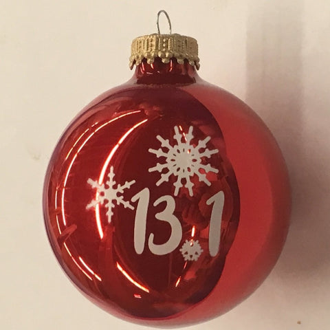 Christmas Ornament 13.1 Snowflakes - Red
