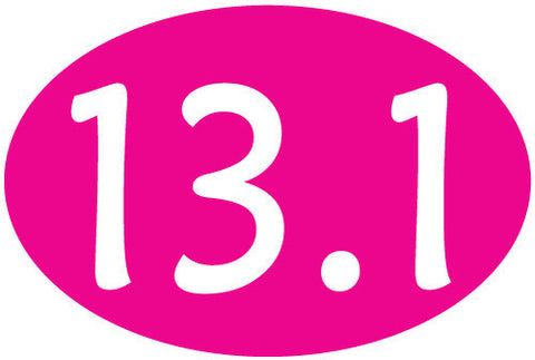 13.1 Oval Decal - Pink