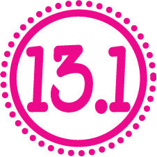 13.1 Round Decal - Pink Dots