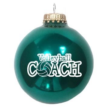 Christmas Ornament Volleyball Coach