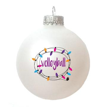 Christmas Ornament Volleyball Lights