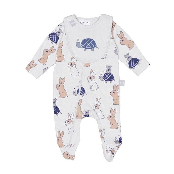 Huxbaby Tortoise And Hare Gift Set (Light Grey)