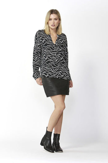 Rose Shirt in Animal Print