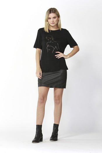 Eden Tee in Black