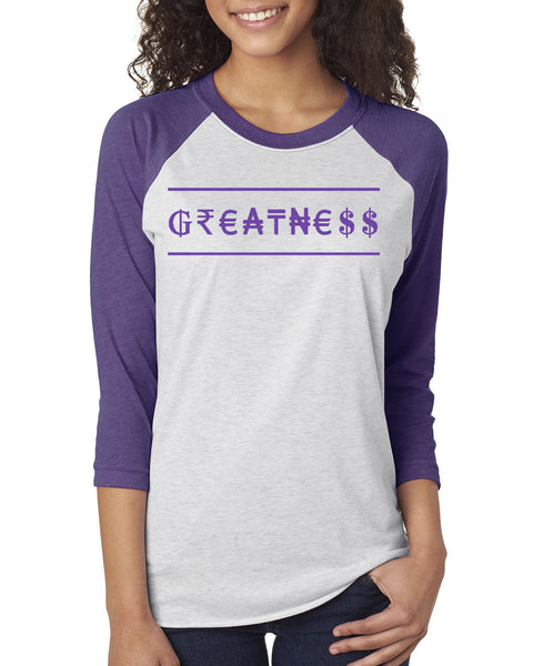 MADE INC - Sport Triblend 3/4-Sleeve Raglan- Greatness
