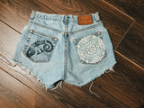 Striped Bohemian Shorts - VintageChameleon