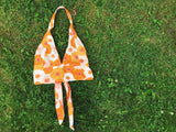 Orange Floral Halter Top - VintageChameleon