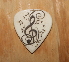 Music Notes Hand Crafted Guitar Pick
