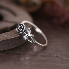 Six Shooter Heritage Rose Ring Vintage Sterling Silver