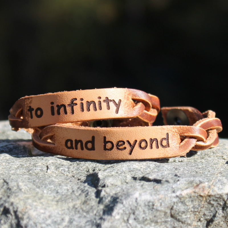 Infinity and Beyond Braided Leather Bracelets