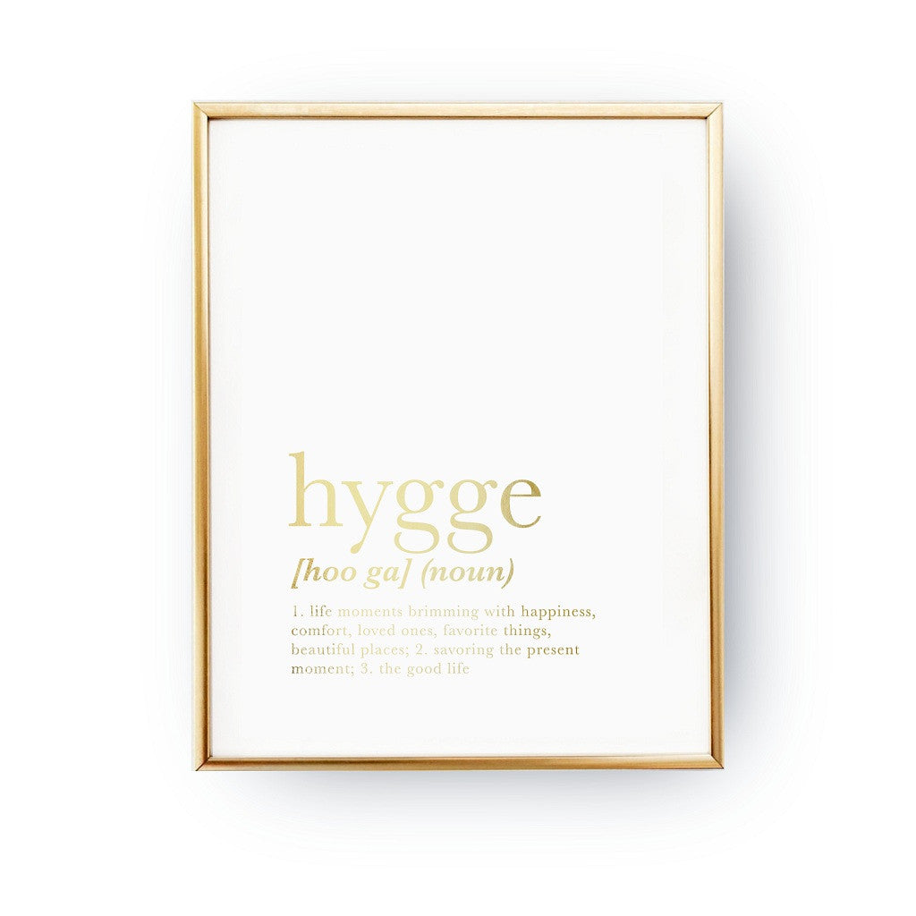 Hygge definition, Poster