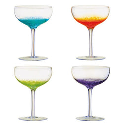 ASD10267 Anton Studio Fizz Set of 4 Champagne Saucers