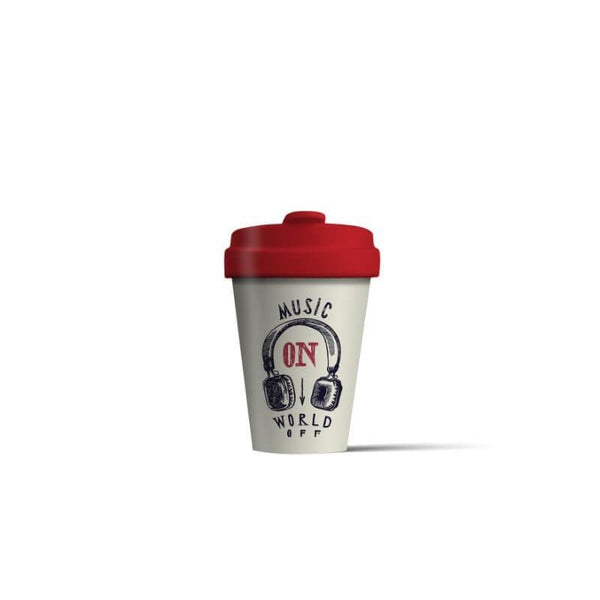 BambooCup 'Music On' Travel Mug - 400ml