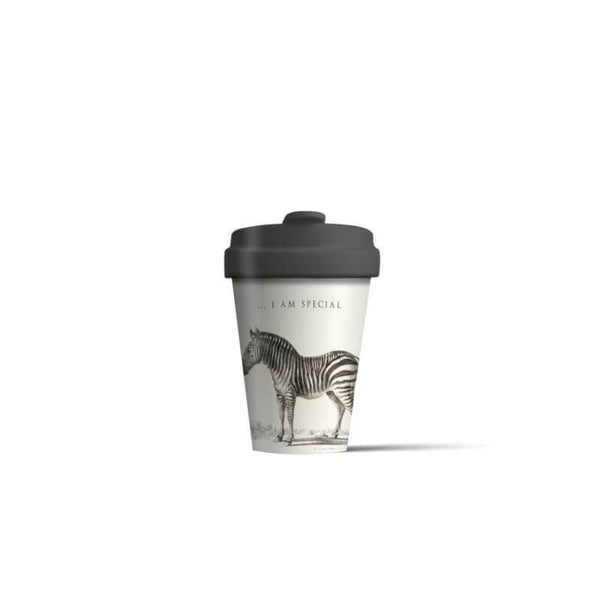 BambooCup 'Special Zebra' Travel Mug - 400ml