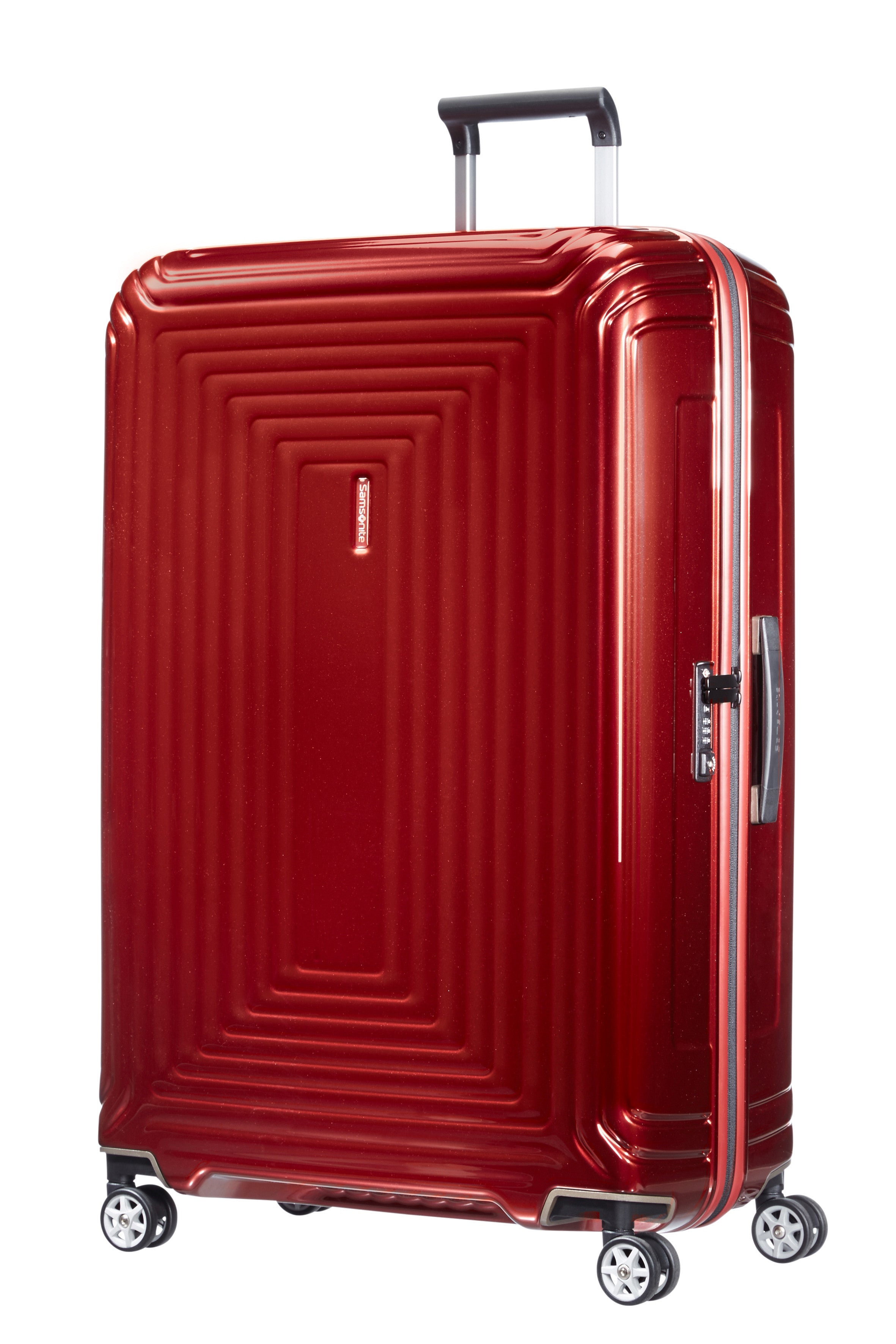Samsonite Neopulse Spinner 81cm Metallic Rood