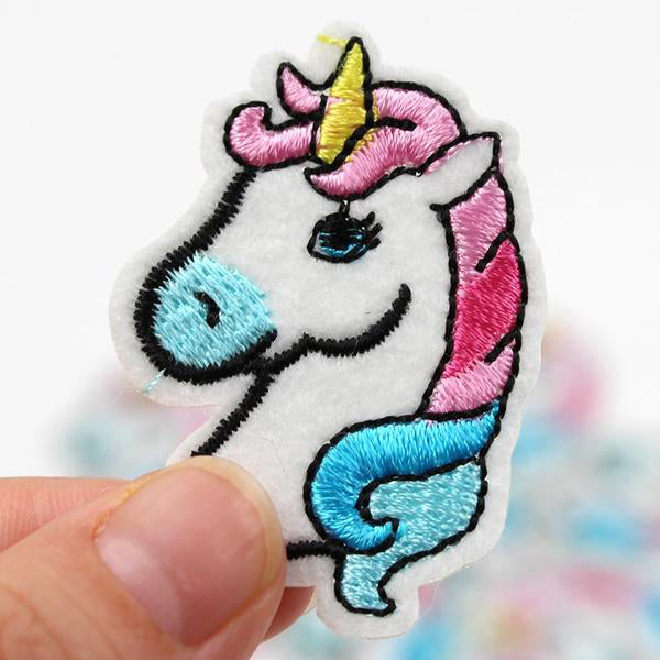 10 pcs Cartoon Unicorn Patches Embroidered