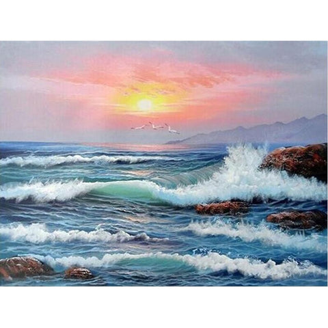 3D Diamond Painting Sea Waves Scenery