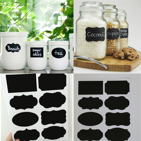 40Pcs Chalkboard Lables Jar Bottle Stickers