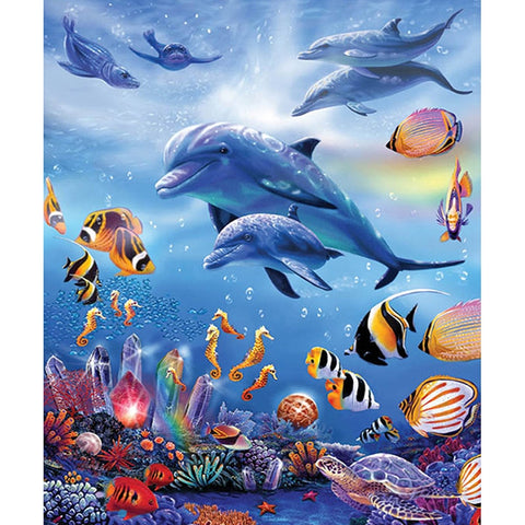 5D Diamond Painting Dolphins Animal