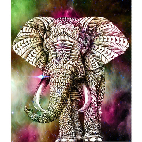 5D Diamond Painting Elephant Cartoon Animals
