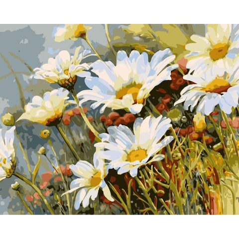 Frameless Chrysanthemum Flower Painting By Numbers