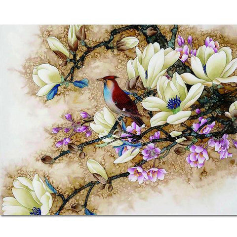 Frameless Painting by Numbers Bird Picture