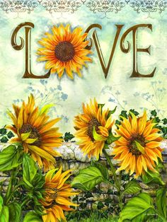 5D Diamond Painting Sun Flower Love