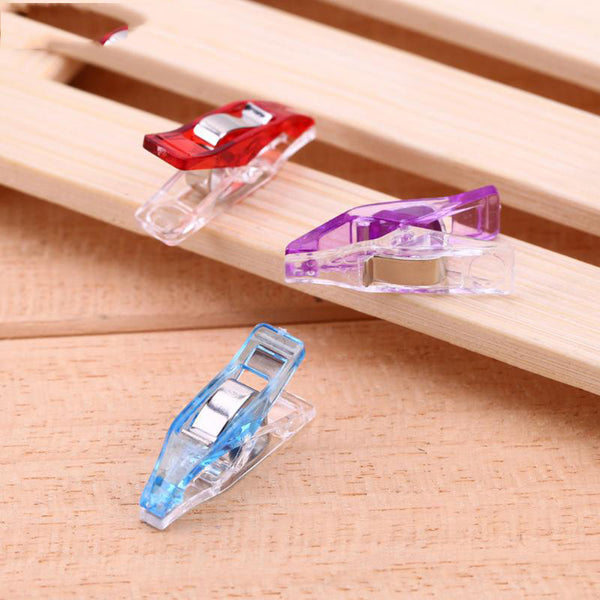 50pcs Plastic Wonder Clips Holder Tools