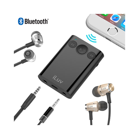 Bluetooth Stereo Receiver with Splitter Adapter