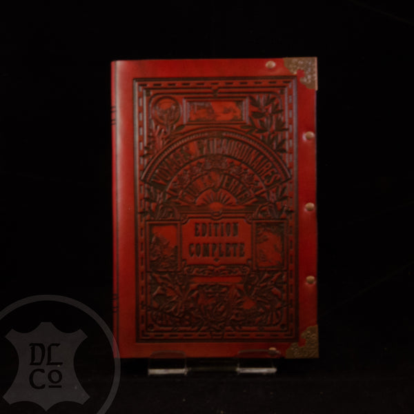 Jules Verne Leather Bound Adventures Book