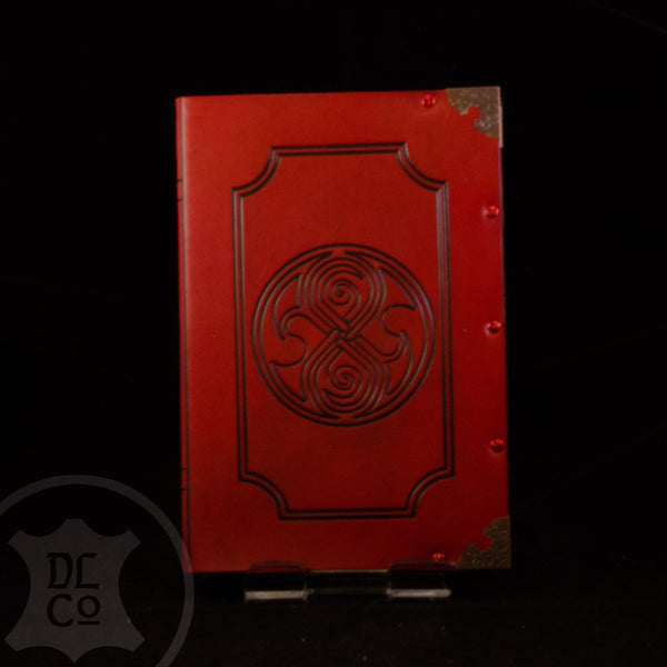 Gallifreyan Red Leather Covered Book