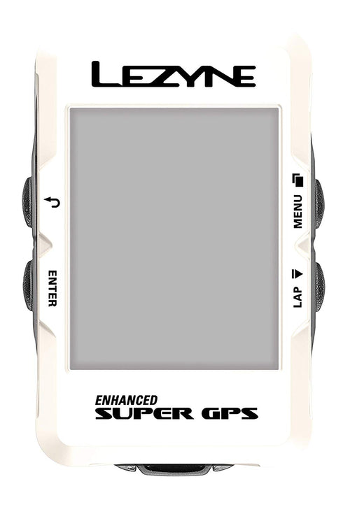 Lezyne Enhanced Super GPS Cycling Computer (Pearl White), 1-GPS-SPR-V207
