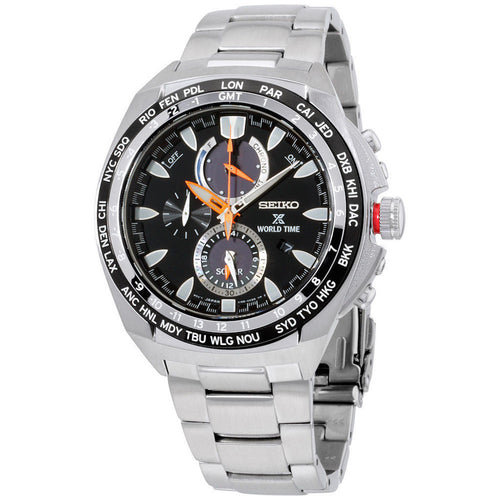 Seiko Prospex World Time Solar Chronograph Prospex Stainless Steel Men's Watch SSC487