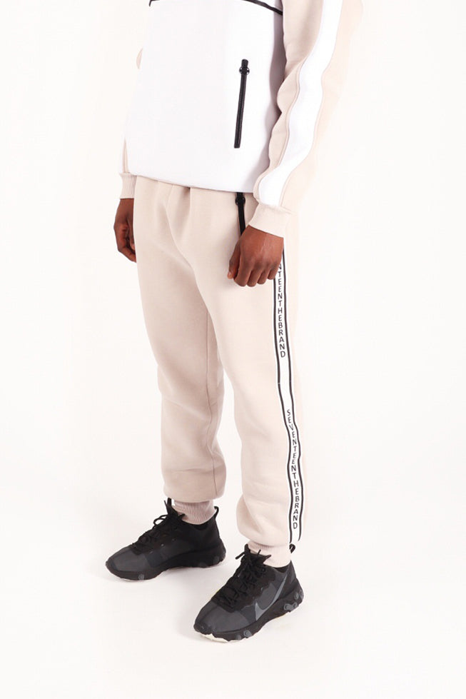 Grey White Embroidered Seventeenthebrand Joggers Unisex