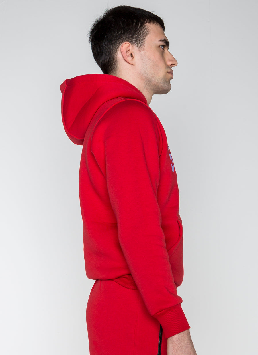 Seventeenthebrand Embroidery Hoodie Red - Unisex