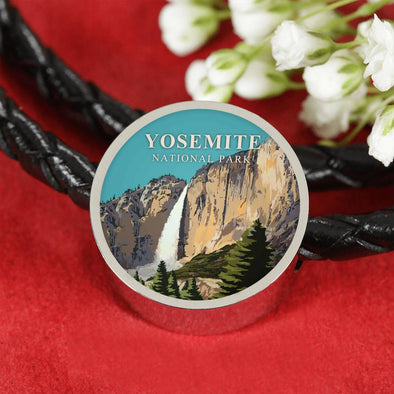 US National Parks Leather Charm Bracelet - Yosemite National Park