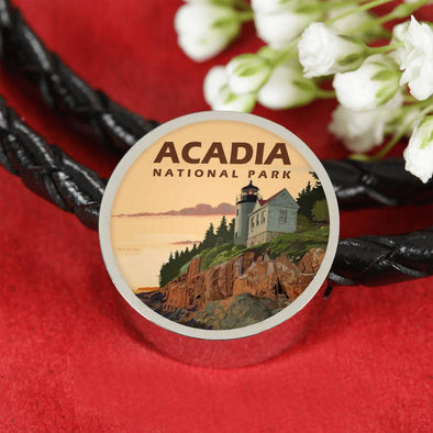 US National Parks Leather Charm Bracelet - Acadia National Park