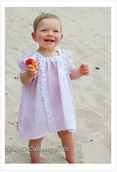 SWEET PEA DRESS girl and baby pdf dress pattern sizes 6 months -10 years. Baby pants included. - Felicity Sewing Patterns