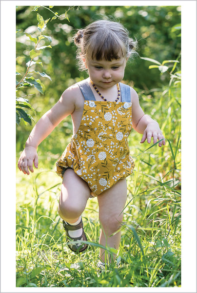 Baby Romper PDF Sewing Pattern, DIMPLES baby boy & girl sunsuit/romper, sizes 3+months - 3 years - Felicity Sewing Patterns