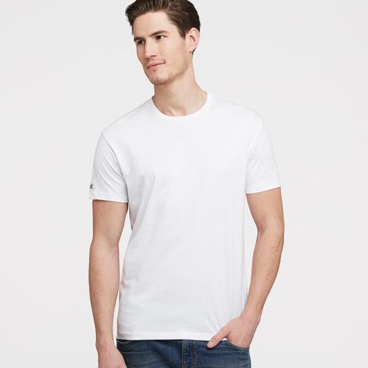 littlebit Mens Crew Neck T-Shirt in white