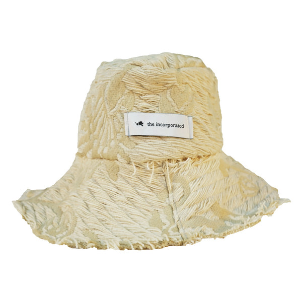 DEADSTOCK UPHOLSTERY Bucket Hat / CREAM - The Incorporated